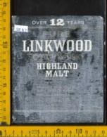 Etichetta Vino Liquore Scotch Whisky Linkwood  - Scozia (difetto) - Etichette