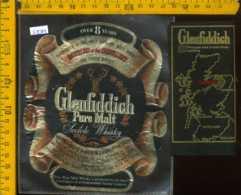 Etichetta Vino Liquore Scotch Whisky Pure Malt Glenfiddich - Scozia - Etichette