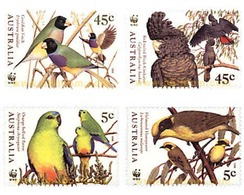 Ref. 77479 * MNH * - AUSTRALIA. 1998. AUSTRALIAN BIRDS IN DANGER OF EXTINCTION . AVES DE AUSTRALIA EN PELIGRO DE EXTINCI - 1990-99 Elizabeth II