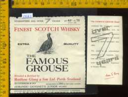 Etichetta Vino Liquore Scotch Whisky The Famous Grouse - Scozia - Etichette