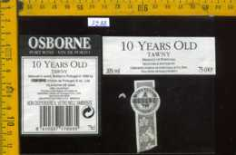 Etichetta Vino Liquore Oporto 10 Years Old Tawny 1998 - Portogallo - Etichette