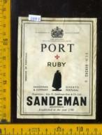 Etichetta Vino Liquore Porto Ruby Sandeman  - Portogallo - Etichette