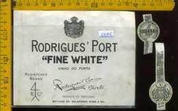 Etichetta Vino Liquore Porto Rodrigues' Port  - Portogallo - Etichette
