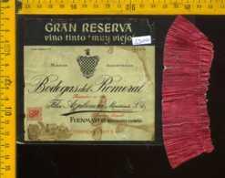 Etichetta Vino Liquore Gran Reserva-Bodegas Del Romeral 1953 - Spagna (difetto) - Etichette