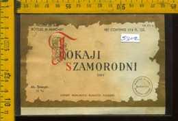 Etichetta Vino Liquore Tokaji Szamorodni 1959 - Ungheria - Etichette