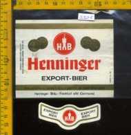 Etichetta Birra Henninger  Export-Bier - Germania - Birra