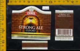 Etichetta Birra Ceres Strongale Export - Danimarca - Birra