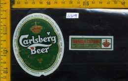 Etichetta Birra Carlsberg Beer - Danimarca - Birra