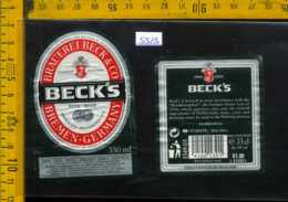 Etichetta Birra Brauerei Beck's - Germania - Birra