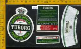 Etichetta Birra Tuborg Premium Beer - Danimarca - Birra