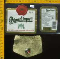 Etichetta Birra Pilsner Urquell - Repubblica Ceca - Birra