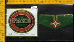 Etichetta Birra Faxe Premium - Danimarca - Birra