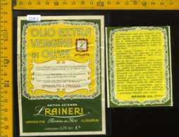 Etichetta Alimentare Olio Extra Vergine Di Oliva Raineri - IM - Etichette