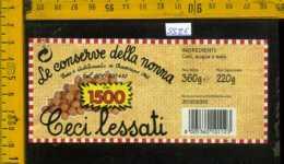 Etichetta Alimentare Ceci Lessati Le Conserve Della Nonna - MO - Etichette