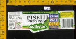 Etichetta Alimentare Piselli Valfrutta - MO - Etichette