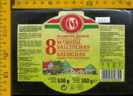 Etichetta Alimentare Wurstel-Salchichas Cocidas - Spagna - Etichette