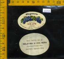 Etichetta Alimentare Gelatina Di Uva Nera Wagner's - USA - Etichette