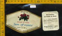 Etichetta Alimentare Marmellata Di Petali Di Rosa Balkan - Bulgaria - Etichette