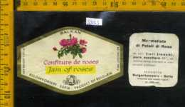 Etichetta Alimentare Confettura Di Rosa Balkan - Bulgaria - Etichette