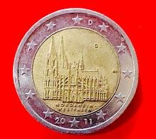 GERMANIA - 2011 - Moneta - Land Di Nordrhein-Westfalen - Duomo Di Colonia - Euro - 2.00 - Germany