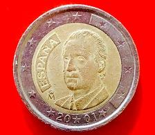 SPAGNA - 2001 - Moneta - Re Juan Carlos - Ritratto - Euro - 2.00 - Slovenia