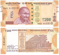 India - 200 Rupees 2017 UNC P. 113 Serie 9AQ Lemberg-Zp - India