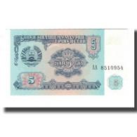 Billet, Tajikistan, 5 Rubles, 1994, KM:2a, NEUF - Tajikistan