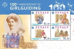 TUVALU  1118 ; MINT N.H. STAMPS  IGPC 1032 SH ( GIRL GUIDING - Tuvalu