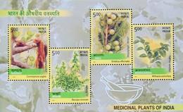 INDIA 2003 Medicinal Plants M/S 10 Nos. MINIATURE SHEETS MNH - India
