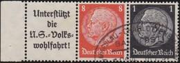 Deutsches  Reich   .    Michel   .    W 65         .    O     .    Gebraucht     .   /  .  Cancelled - Zusammendrucke