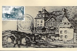 12.5.1953  -  VIANDEN  -   Aujourd'hui J'ai Dessiné La Maison Que J'habite  Victor Hugo  18.juillet 1871 - Cartes Maximum