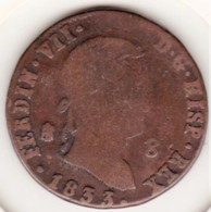 Spain 8 Maravedis 1833 Aqueduct. Ferdinand VII. KM# 486.1 - [ 1] …-1931 : Koninkrijk