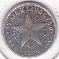 Cuba 10 Centavos 1920 , En Argent. KM# A12 - Cuba