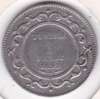 PROTECTORAT FRANCAIS. 1 FRANC 1892 (AH 1309) Paris ALI BEY En Argent - Tunesië