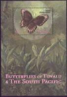 TUVALU  831  MINT NEVER HINGED SOUVENIR SHEET OF BUTTERFLIES - Butterflies