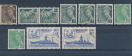FRANCE - LOT DE 10 TIMBRES NEUFS** SANS CHARNIERE - COTE YT : 5€ - 1938/41 - France