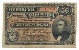 Argentina , 50 Centavos, P-230 (1895) Crisp F/VF, RARE. - Argentina