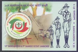 BANGLADESH 2019 - 10th Bangladesh And 3rd SAANSO Scout Jamboree, Scouting, IMPERF Miniature Sheet MNH - Nuevos