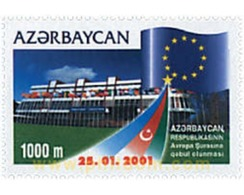 Ref. 81063 * MNH * - AZERBAIJAN. 2001. ADMISSION TO EUROPEAN COUNCIL . ADMISION EN EL CONSEJO DE EUROPA - Europese Gedachte