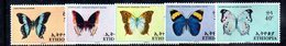 ETP313 - ETIOPIA 1967 ,  Yvert  N. 482/486    ***  FARFALLE PAPILLON - Ethiopia