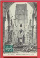 LILLE EGLISE SAINT SAUVEUR INCENDIEE EN 1896 CARTE EN BON ETAT - Lille