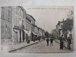 Saint Fons. Poste Et Rue Carnot - Other Municipalities