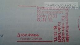 D166071  Deutschland- FREISTEMPEL  EMA-METER STAMP - Internationaler Kunstmarkt  -KÖLN MESSE -  1981 - [7] République Fédérale
