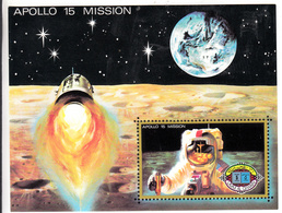 Umm Al-Qiwain 1972 Mi Nr Blok 41: Space, Ruimtevaart: Apollo 15 Mission - Umm Al-Qiwain