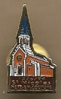 Pin's Metz-en-Couture (62) 12-06-1994 ? église Saint-Nicolas - Städte