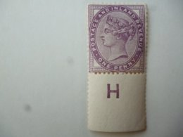 GREAT BRITAIN [UK] SG XXXX 1881 1d MARGINAL STAMPS CONTROL G WITH SELVEDGE PERFORATION - 1840-1901 (Victoria)