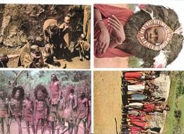 4 Cards - Africa - Kenya - Kenia - Masai - Dancing - Dancer - Women - Kenia