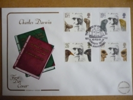 GREAT BRITAIN [UK] SG 1175 CHARLES DARWIN DEATH ANNIVERSARY (1982)  FDC SPECIAL COVER THE VOYAGE OF H.M.S.BEAGLE - FDC