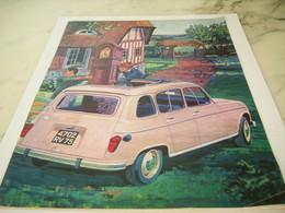 ANCIENNE PUBLICITE AUTOMOBILE  4L  RENAULT 1965 - Transporto