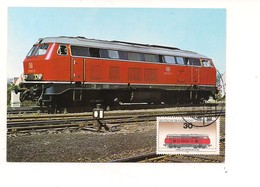 M9059 MAXMUM TEMATICA TRASPORTI TRENI 1973 GERMANIA - Automobili